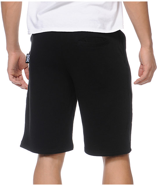 DGK By Any Means Black Fleece Shorts