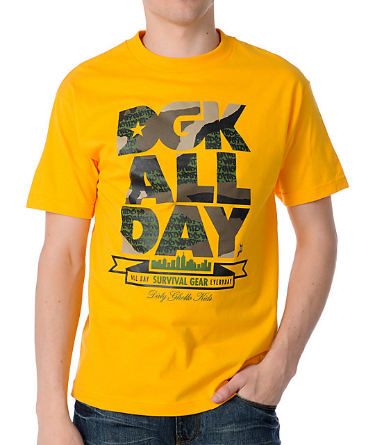 DGK Camo All Day Yellow T-Shirt