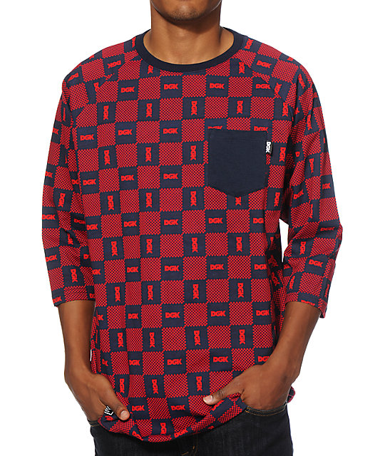 DGK Checkers Baseball Pocket T-Shirt