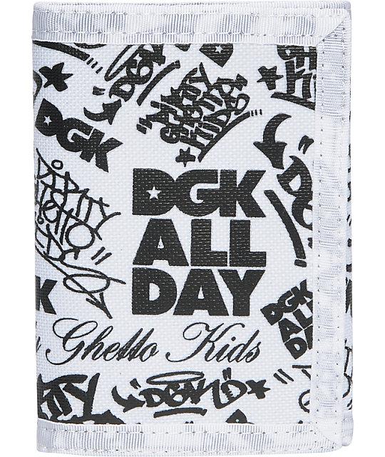 DGK Classic Black & White Tri-Fold Wallet