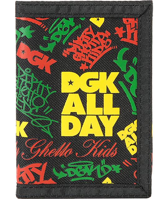 DGK Classic Rasta Tri-Fold Wallet