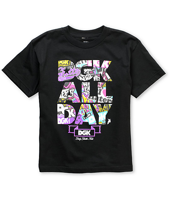 DGK Collage All Day Boys Black T-Shirt