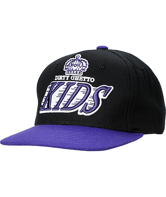 DGK Crown Black & Purple Snapback Hat
