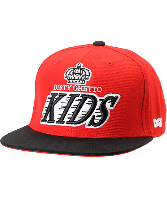 DGK Crown Red & Black Snapback Hat
