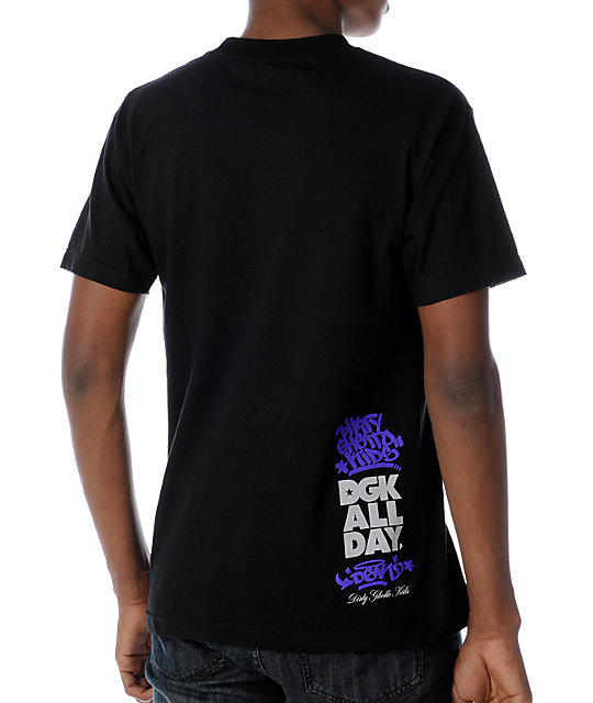 DGK DGK All Day Black Plaid T-Shirt