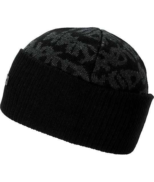 DGK Fat Tip Black Beanie