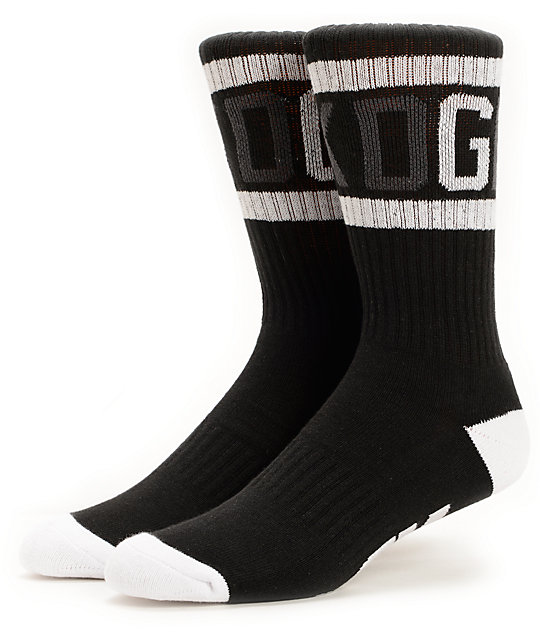 DGK G Crew Black & White Crew Socks