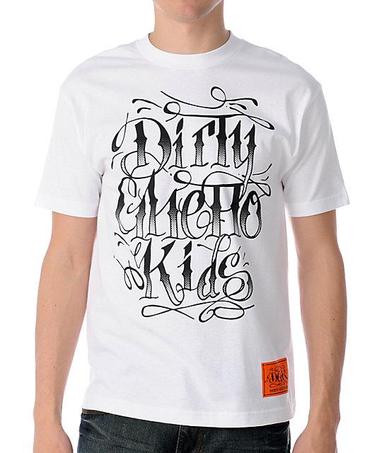 DGK Gangsta Script White T-Shirt