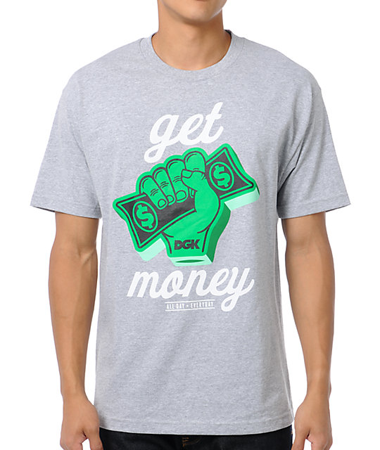 DGK Get Money Grey T-Shirt