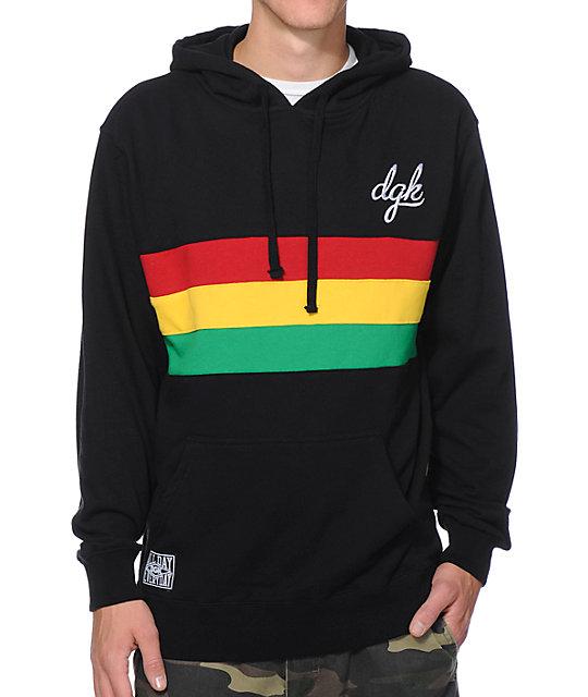 DGK Global Black Pullover Hoodie