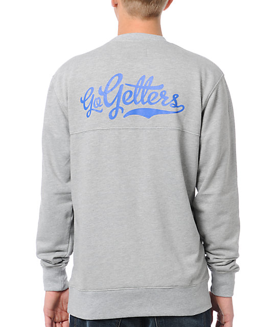 DGK Go Getters Grey Crew Neck Sweatshirt
