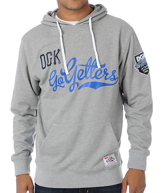 DGK Go Getters Heather Grey Pullover Hoodie