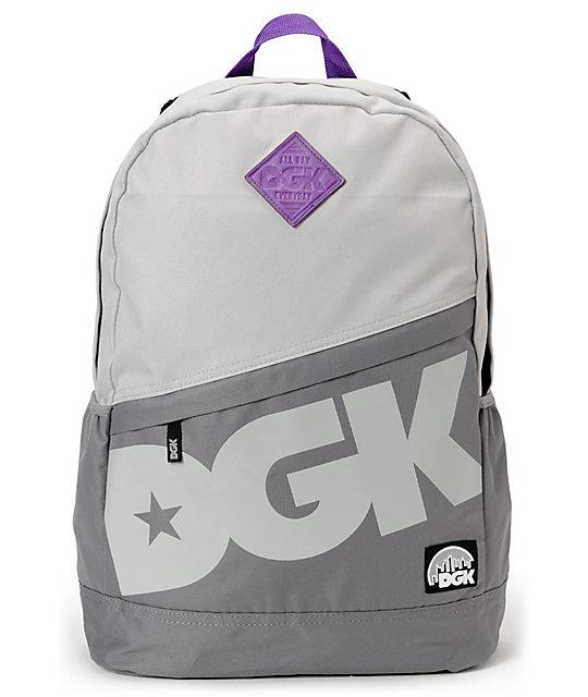DGK Grey & Purple Angle Laptop Backpack