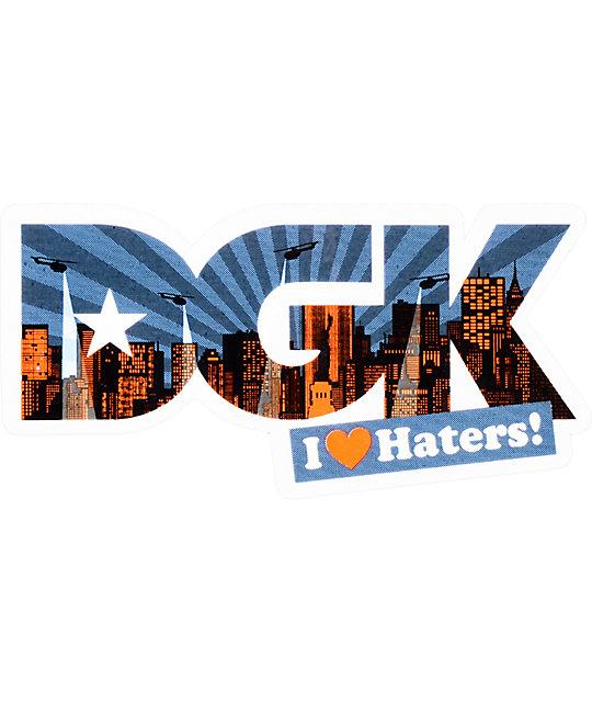 DGK Hater NY Blue & Orange Sticker