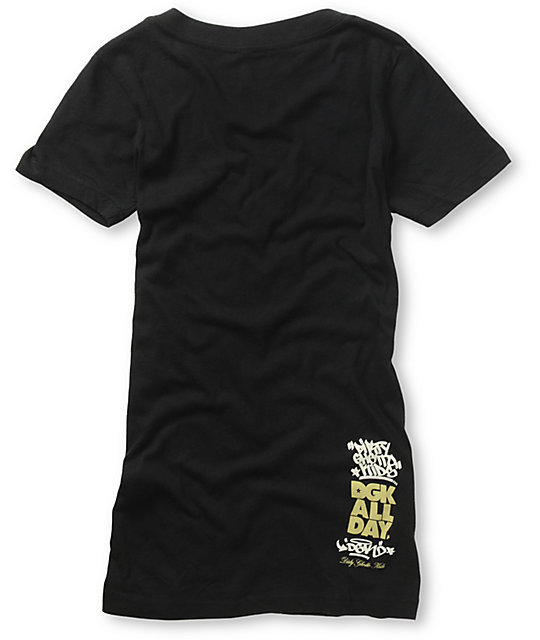 DGK Haters Black V-Neck T-Shirt