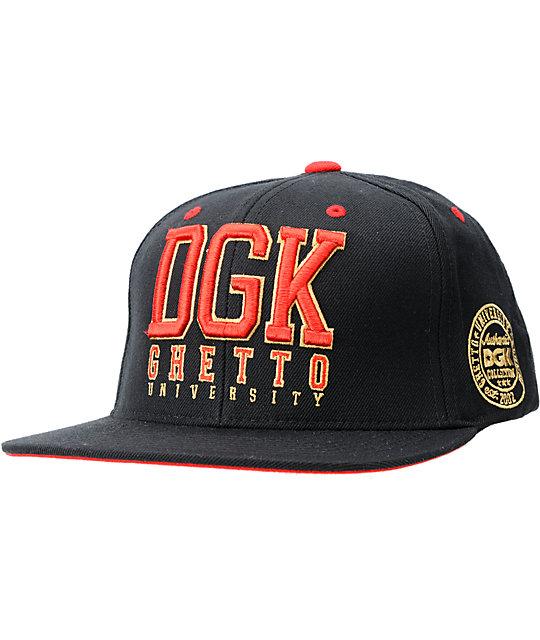 DGK Head Of Class Black Snapback Hat