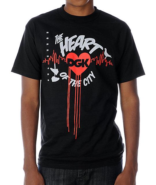 DGK Heart Of The City Black T-Shirt