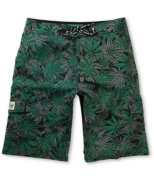 DGK Home Grown Green 23 Board Shorts