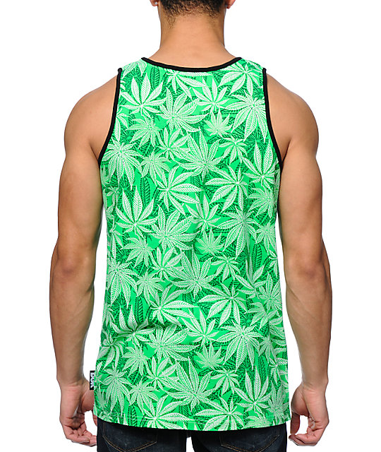 DGK Home Grown Plant Green Tank Top