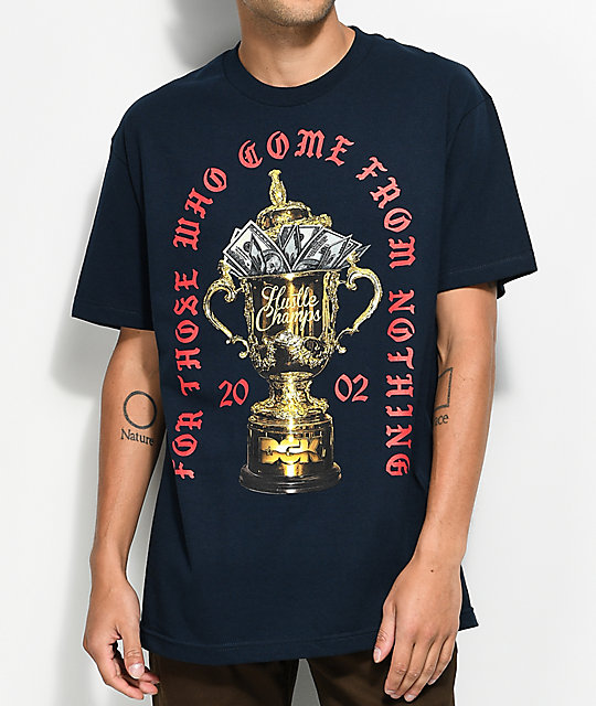 DGK Hustle Champs Navy T-Shirt