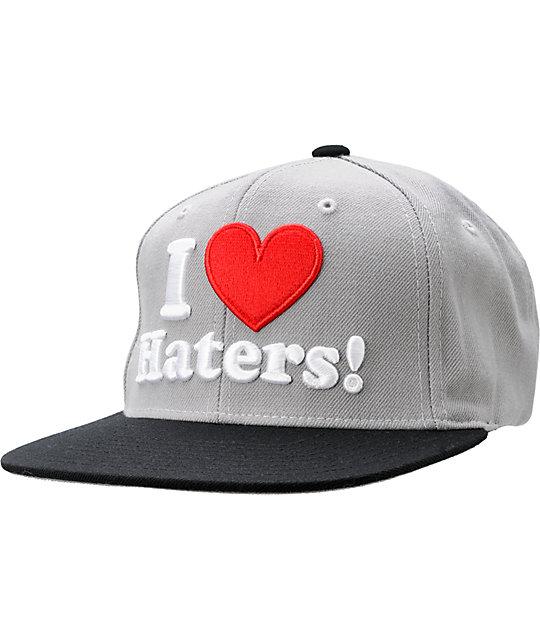 DGK I Heart Haters Grey Snapback Hat