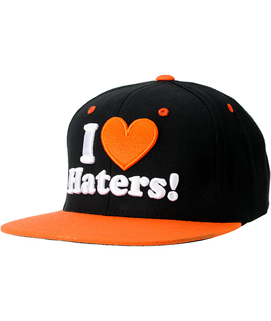 DGK I Love Haters Black & Orange Snapback Hat