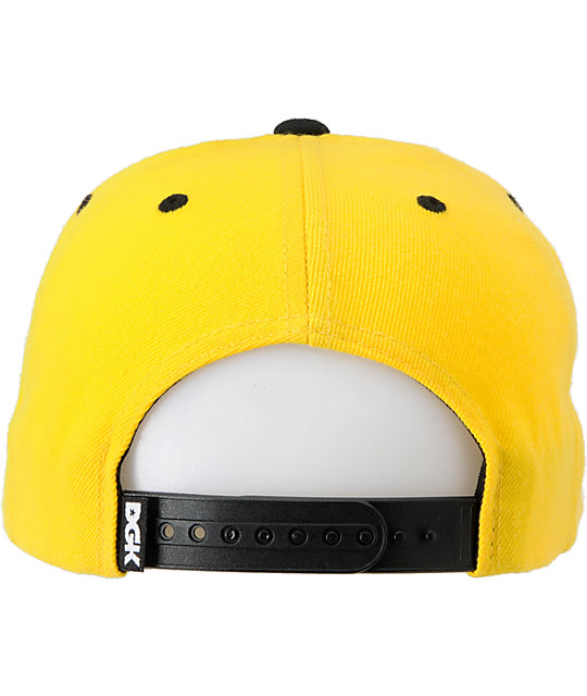 DGK I Love Haters Black & Yellow Snapback Hat