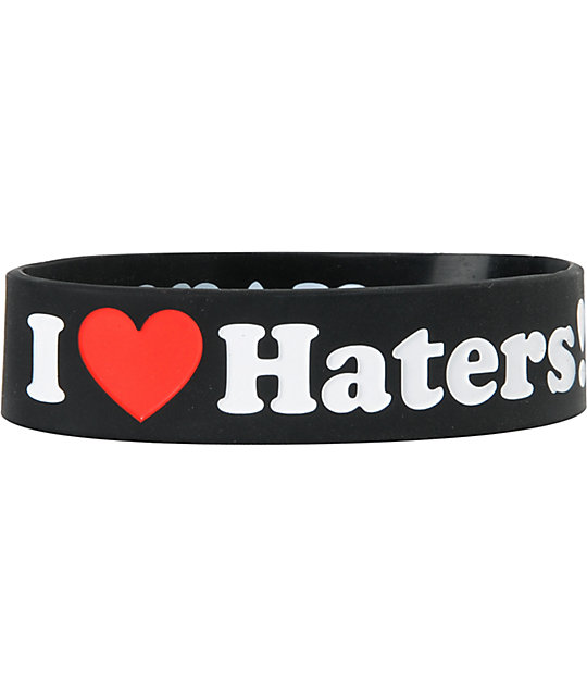 DGK I Love Haters Black Bracelet