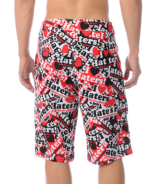 DGK I Love Haters Collage 23 Board Shorts
