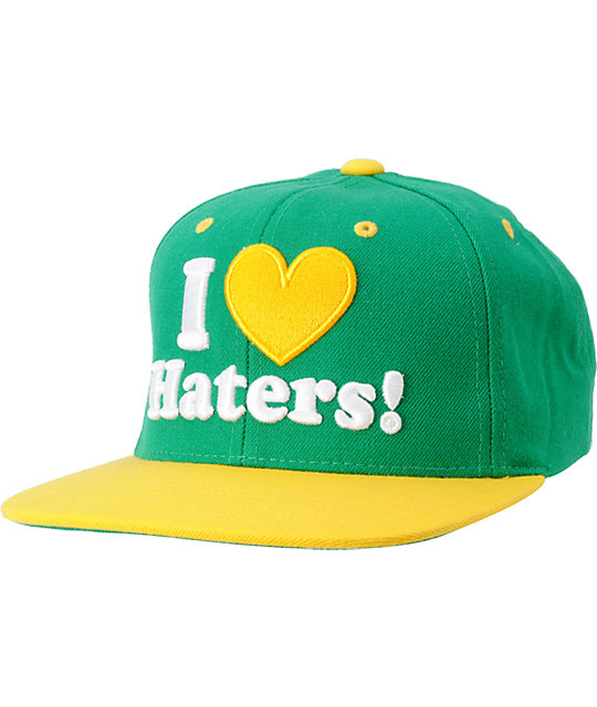 DGK I Love Haters Green & Yellow Snapback Hat
