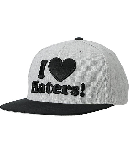 DGK I Love Haters Grey & Black Snapback Hat