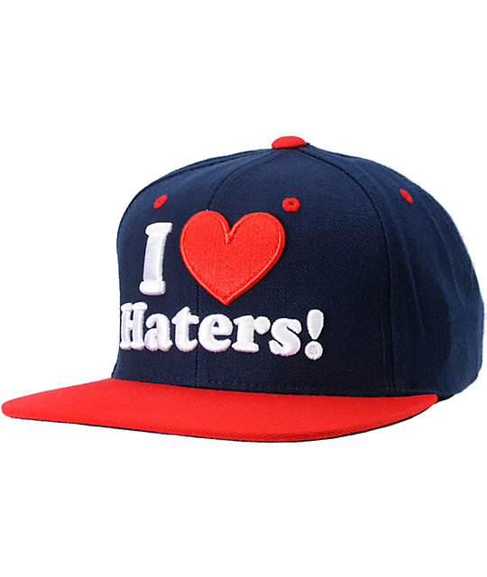 DGK I Love Haters Navy & Red Snapback Hat