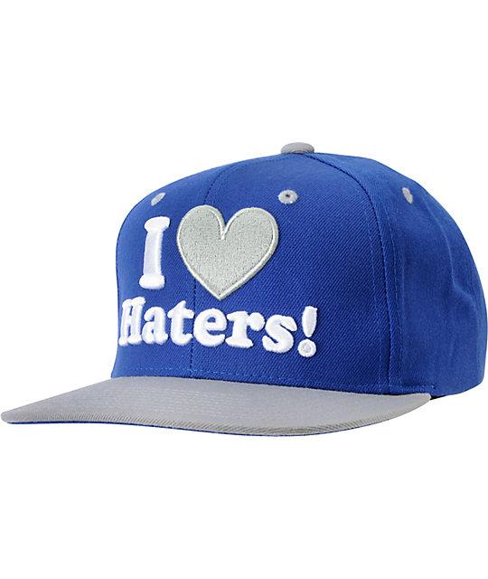DGK I Love Haters Royal & Grey Snapback Hat