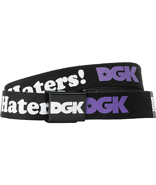 DGK I Love Haters Scout Black & Purple Web Belt