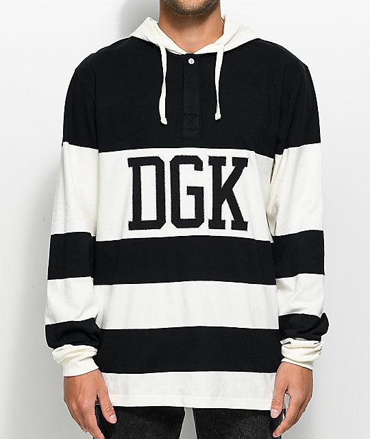 DGK Jumper Long Sleeve Hooded Rugby T-Shirt