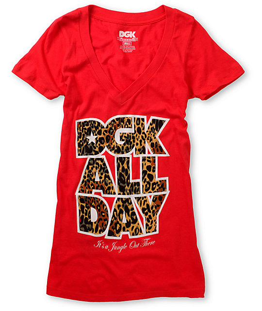 DGK Jungle Red V-Neck T-Shirt