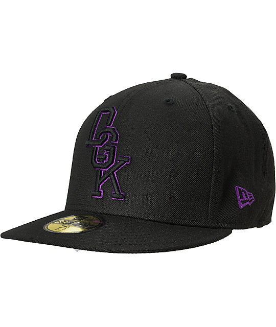 DGK Letterman Black & Purple Hat