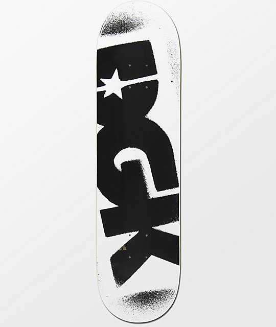 Dgk Logo 8 25 Quot White Amp Black Skateboard Deck Zumiez