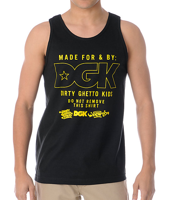DGK Made For Gold & Black Tank Top