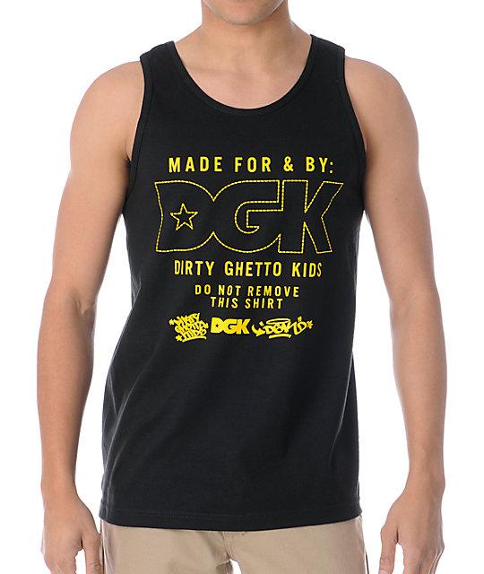 DGK Made For Gold & Black Tank Top