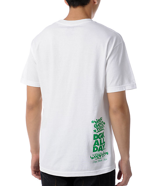 DGK Made For White & Green T-Shirt