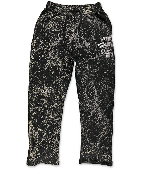 DGK Making Something Black Bleach Fleece Sweatpants