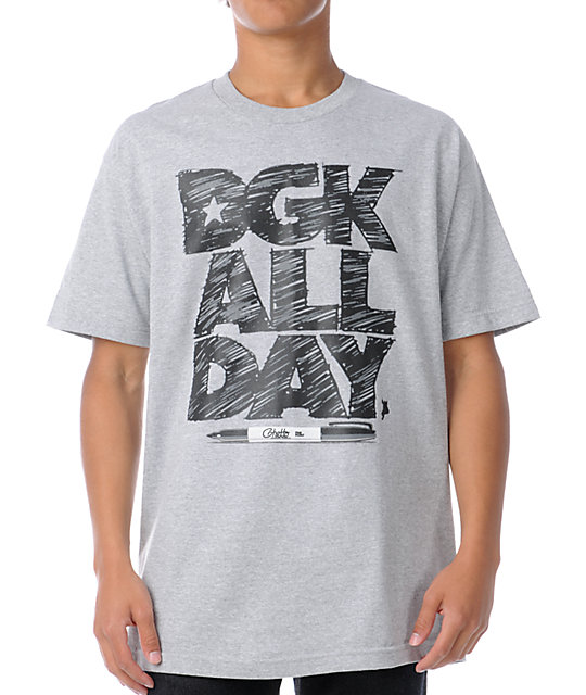 DGK Marked All Day Grey T-Shirt