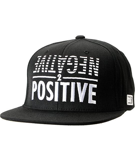 DGK Negative 2 Positive Black Snapback Hat