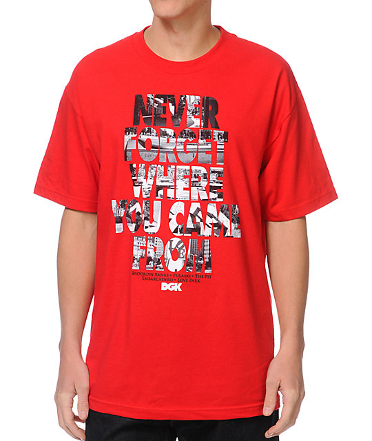 DGK Never Forget Red T-Shirt