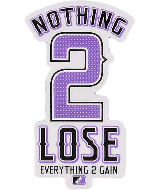 DGK Nothing 2 Lose Sticker