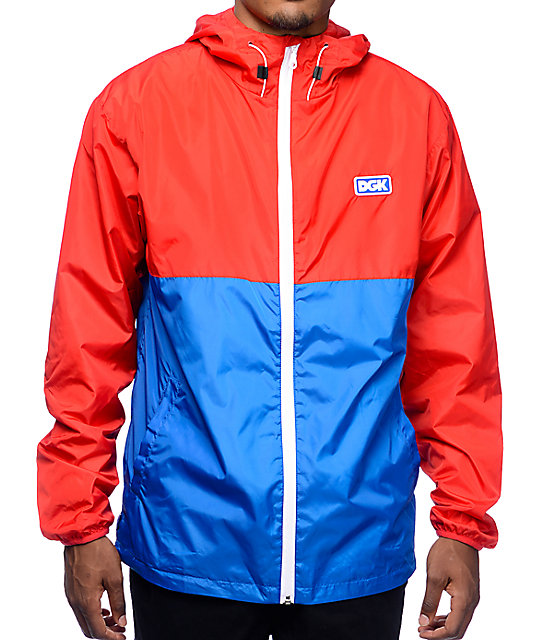 DGK Pier Red & Blue Windbreaker Jacket | Zumiez