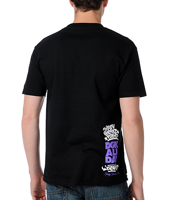 DGK Plaid All Day 2 Black T-Shirt
