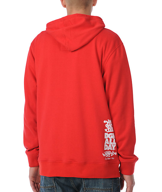 DGK Property Of DGK Red Pullover Hoodie