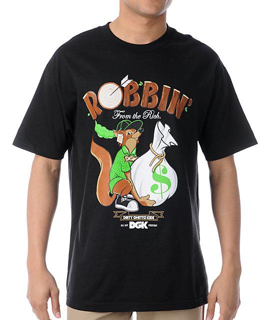 DGK Robbin Black T-Shirt